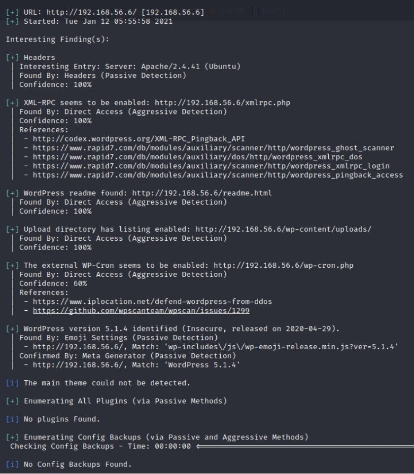 命令wpscan
